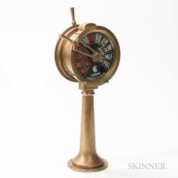 Small Brass Ship's Telegraph