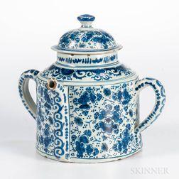 Dutch Delft Posset Pot and Cover