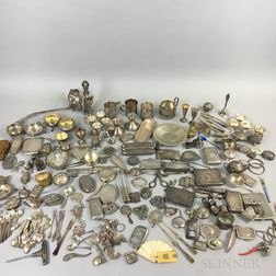 Large Group of Silver Tableware and Accessories