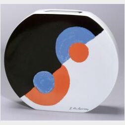 "Sonia Delaunay ""Helice"" Decorated Porcelain Vase"