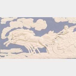 Wedgwood Solid Blue Jasper Fall of Phaeton Plaque