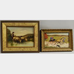 Lot of Two Framed Oil Paintings