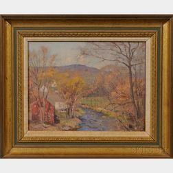 William Jurian Kaula (American, 1871-1953)      River Running through a Landscape