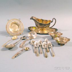 Small Group of Mostly Sterling Silver Table and Decorative Items