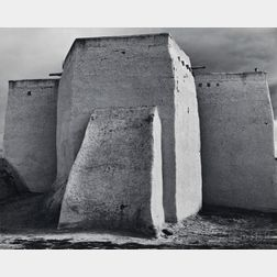 Ansel Adams (American, 1902-1984)      St. Francis Church, Ranchos de Taos, New Mexico