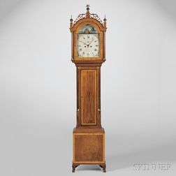 James Doull Tall Clock with Rocking Ship Automaton, Case Attributed to Thomas Seymour