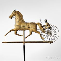 Sulky and Rider Weathervane