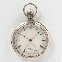 Howard Key-wind Open-face Silver Watch
