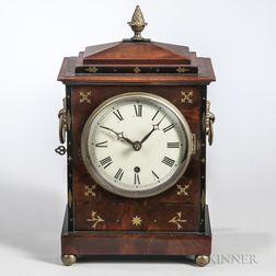 Brass-inlaid Mahogany Bracket Clock