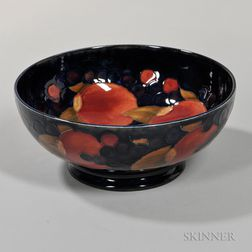 Moorcroft Pomegranate Footed Bowl