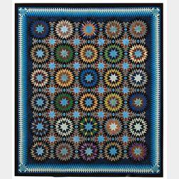 Pieced Silk Quilt