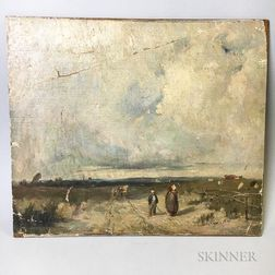 After Richard Parkes Bonington (British, 1802-1828)      Copy of A Distant View of St-Omer