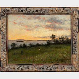 Bjørn Smith-Hald (Norwegian, 1883-1964)      Pasture by the Sea