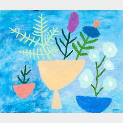 Todd Stoddard McKie (American, b. 1944)      Bleu Painting