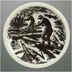 """Seven Wedgwood Queen's Ware """"Clare Leighton"""" Plates"""