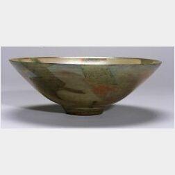 Large Studio Pottery Lustreware Bowl by Sutton Taylor