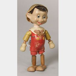 Segmented Wood Pinocchio Doll