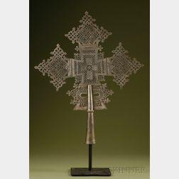 Large Abyssinian Coptic Metal Cross