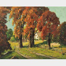 John F. Enser (American, 1898-1968)      The Pasture Road