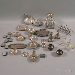 Group of Miscellaneous Small Mostly Sterling Silver Tableware