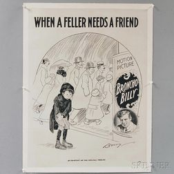 Clare Briggs When a Feller Needs a Friend   Lithographed Comic