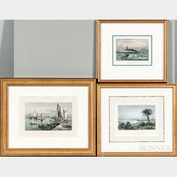 Three Framed Boston Prints
