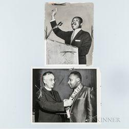 Two Martin Luther King, Jr. Press Photos.     Estimate $200-250