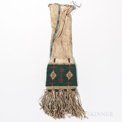 Lakota Beaded Hide Pipe Bag