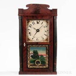 Silas Hoadley Miniature Column and Splat Shelf Clock