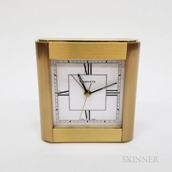Tiffany & Co. Brass Travel Alarm Clock