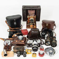 Three Cameras and Four Pairs of Binoculars