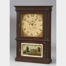 Mahogany and Mahogany Veneer Mantel Clock