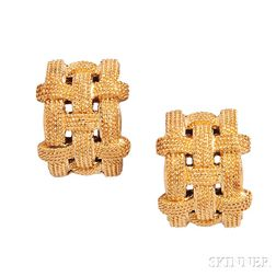 18kt Gold Earclips, Roberto Coin