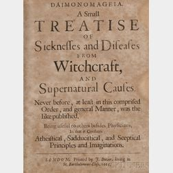 Drage, William (1637?-1669)   Daimonomageia. A Small Treatise of Sicknesses and Diseases from Witchcraft and Supernatural Causes