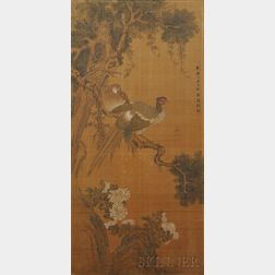Painting Depicting Two Pheasants