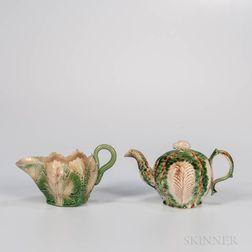 Two Staffordshire Creamware Tableware Items