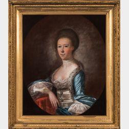 Jeremiah Theus (South Carolina, 1716-1774)      Portrait of Ann Ball Waring (1753-1826) of Charleston, South Carolina