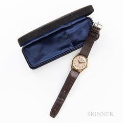 Tiffany & Co. Signed Patek Philippe 18kt Gold Calatrava Reference 96 Wristwatch