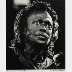 Herman Leonard (American, 1923-2010)      Miles Davis - Montreux