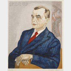 Junichiro Sekino (Japanese, 1914-1988)      Lot of Three Portraits: Gentleman Seated