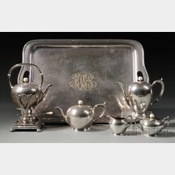 Arthur Stone Coffee and Tea Service with Gorham Tray