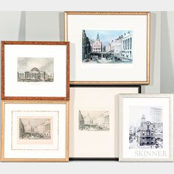 Five Framed Prints of Boston