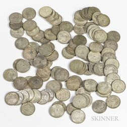 Eighty 1921 Morgan Dollars and Twenty Peace Dollars