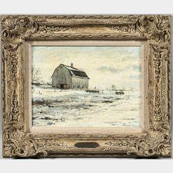 Richard Earl Thompson (American, 1914-1991)      Rhody's Barn
