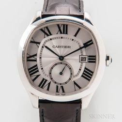 Drive De Cartier Stainless Steel Wristwatch Full Set
