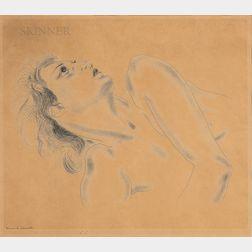 Léonard Tsuguhara Foujita (Japanese/French, 1886-1968)      Profil de femme