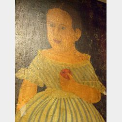 Unframed Prior-Hamblin School Style Oil on Canvas Portrait of Child