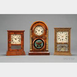 Three Miniature Shelf Clocks