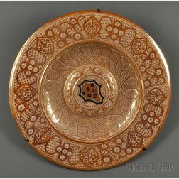 Hispano-Moresque-style Copper-lustre Charger