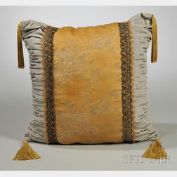 Custom-made Pillow with Stencil-decorated Mariano Fortuny Panel